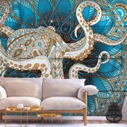 ARTGEIST Fototapet - Zen Octopus, mandala blæksprutte (flere størrelser) 400x280