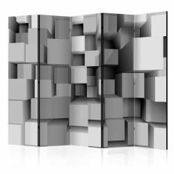 ARTGEIST Geometric Puzzle II rumdeler - hvid/grå print (172x225)