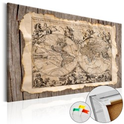ARTGEIST Map of the Past - Historisk verdenskort med latinsk tekst trykt på kork - Flere størrelser 120x80