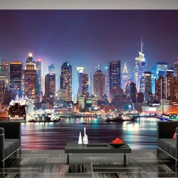 ARTGEIST Night in New York City fototapet - multifarvet print (105x150)