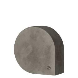 Aytm moles skulptur/bogstøtte (mørkegrå/l14,4xb6xh14,4 cm)