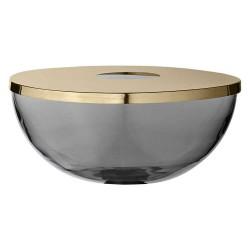 Aytm tota kombineret vase & skål (sort/guld/ø28xh12 cm)