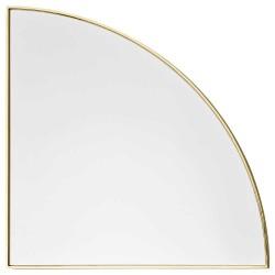 Aytm unity spejl 1/4 cirkel (guld/lx25w1,2xh25 cm)