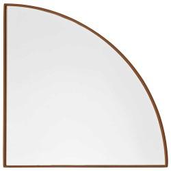 Aytm unity spejl 1/4 cirkel (ravgul/lx25w1,2xh25 cm)
