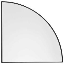 Aytm unity spejl 1/4 cirkel (sort/lx25w1,2xh25 cm)