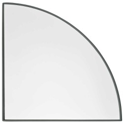 Aytm unity spejl 1/4 cirkel (støvet grøn/lx25w1,2xh25 cm)