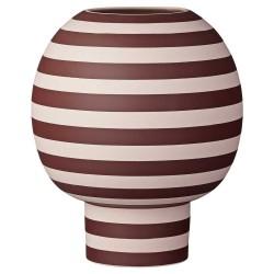 Aytm varia skulptur vase (rosa/bordeaux/ø18xh21 cm)