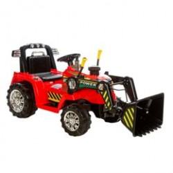 Azeno elbil - Traktor med skovl - Rød