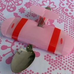 Babyplane spiseske, lyserød