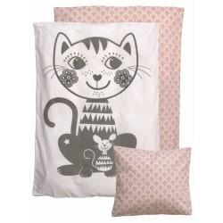 Babysengetøj - Roommate - SoulMate Cat, grå/rosa