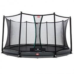 Berg trampolin med net - Champion Inground - Ø 380 cm