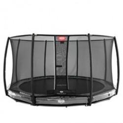 Berg trampolin med net - Elite Inground - Ø 430 cm