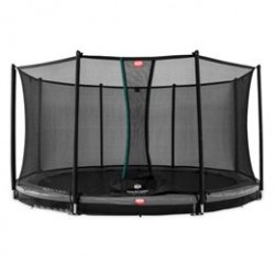 Berg trampolin med net - Favorit Inground - Ø 380 cm