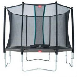 Berg trampolin med net - Favorit - Ø 380 cm - Grå