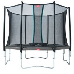 Berg trampolin med net - Favorit - Ø 430 cm - Grå