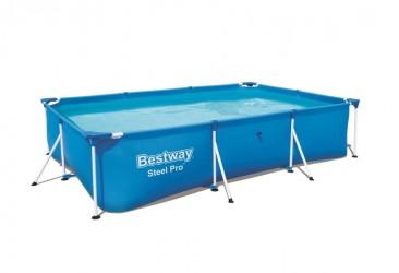 Bestway Pool 300 x 201 x 66 cm - Firkantet bassin med metalramme