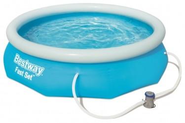 Bestway Pool 305 x 76 cm - Mellemstort bassin m. filterpumpe