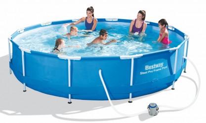 Bestway Pool 366 x 76 cm - Fantastisk familiebassin med metalramme
