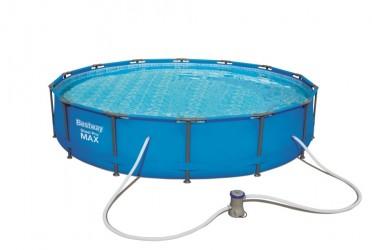 Bestway Pool 427 x 84 cm - Stort og lækkert bassin med metalramme