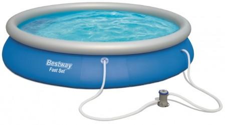 Bestway Pool 457 x 84 cm - Stor selvrensende pool
