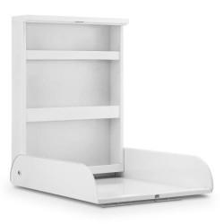 Bino væghængt puslebord i metal - Hvid