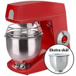 Bjørn Teddy Varimixer køkkenmaskine med ekstra skål - Rød