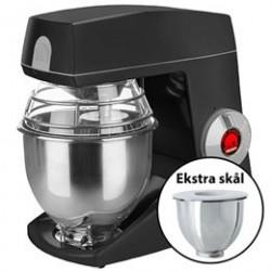 Bjørn Teddy Varimixer køkkenmaskine med ekstra skål - Sort