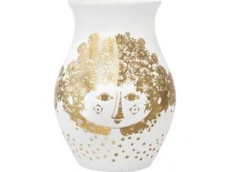 Bjørn Wiinblad Felicia Vase Guld, Hvid 18 cm