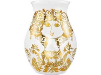 Bjørn Wiinblad Rosalinde Vase Guld 26 cm