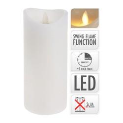 Bloklys - Med bevægelig flamme - 8,5x20 cm