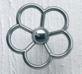 Blomster knage (platin)