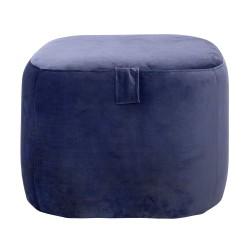BLOOMINGVILLE Bella puf - blå polyester, kvadratisk