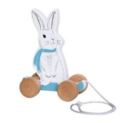 Bloomingville Legetøj Hare på hjul 10x22x16,5