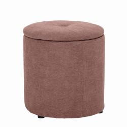 BLOOMINGVILLE MINI puf - rosa stof/polyester (Ø 37)