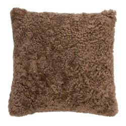 BLOOMINGVILLE pude - brun fåreskind, kvadratisk (45x45)