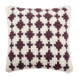 BLOOMINGVILLE pude - multifarvet uld/bomuld, kvadratisk (55x55)