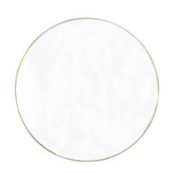 BLOOMINGVILLE rund vægspejl - spejlglas og guld metal (Ø80)