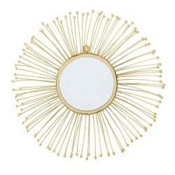 BLOOMINGVILLE vægspejl - guld metal, rund (Ø61)