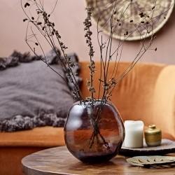 Bloomingville vase Nima - brun glas