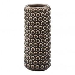 Bloomingville vase (ø5xh11 brunt stentøj)