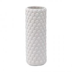 Bloomingville vase (ø6xh17 hvid stentøj)