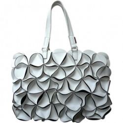 Blossom taske (stor/hvid)