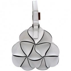Blossom triangle håndtaske (hvid)