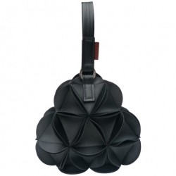 Blossom triangle håndtaske (sort)