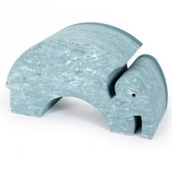 Bobles elefant (lys blÅ marmor)