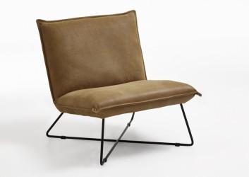 BODAHL Alta loungestol - walnut læder