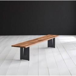 BODAHL Concept 4 You spisebordsbænk - massiv old bassano egetræ m. Steven ben 220 x 40 cm 3 cm