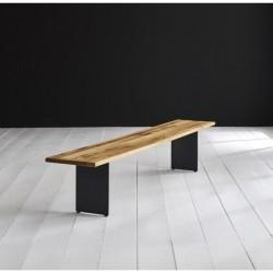 BODAHL Concept 4 You spisebordsbænk - massiv olieret egetræ m. Line ben 240 x 40 cm 3 cm