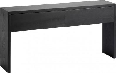 BODAHL Nobel konsolbord - sort egetræsfinér, m. 2 skuffer