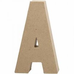 Bogstav A. H: 20,5 cm. 1 stk. Papmaché